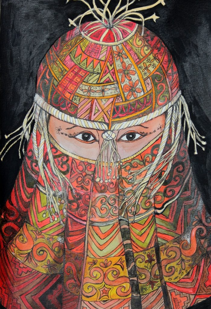 Tapestry Face by Jenny Manning