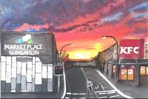 Francine Adarne, Sunset by the Marketplace