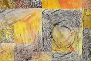 Gungahlin Impressions Art Group, Sunshiny Days - Pixel Card Montage