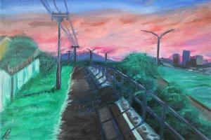 Anael Lukban, Evening Walk