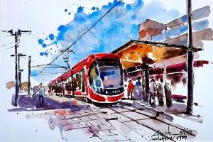 Girish Toraskar, Gunghalin Light Rail Station