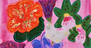 Flowers and Butterflies (detail) by Jenelle Outhwaite