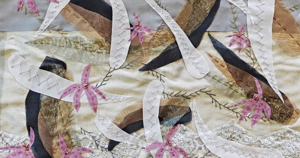 Stitching Wildflowers of Black Mountain