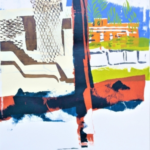 View of Canberra Hospital. Third in a series of three unique screen prints.