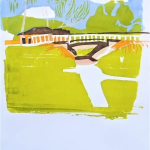 A Woden underpass, from the bush to suburbia, second in a series of two screen prints.