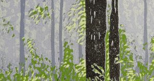 Smoky Forest (detail) by Peter McLean