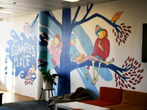 Gunners Place youth centre mural