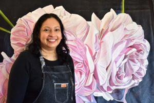 Antoinette Karsten, Sri Lanka. Floral Art, Framed photograph