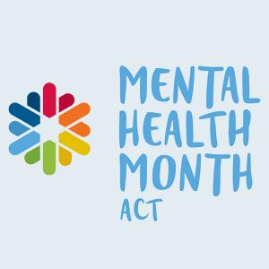 Mental Health Month ACT logo